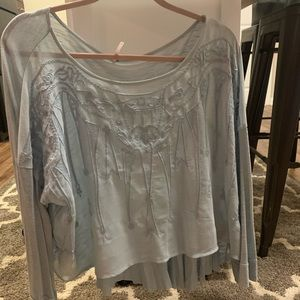 Free People Tops - Free people light blue blouse